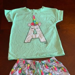 Justice girls pajama set